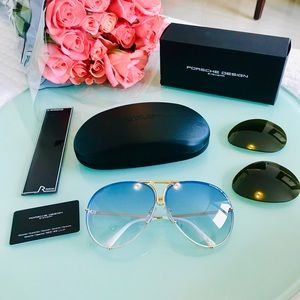 Porsche Design Accessories - NWT Porsche Design P8478 W 69 Blue Gold Sunglasses